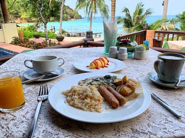 ル ビーマン コテージ アンド スパ(Le Vimarn Cottages and Spa)の朝食