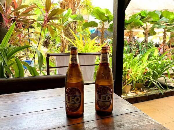 トンサックリゾート(Tonsak Resort)で飲んだビール