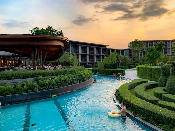 ホアヒン マリオット リゾート アンド スパ(Hua Hin Marriott Resort and Spa)の水路プール4