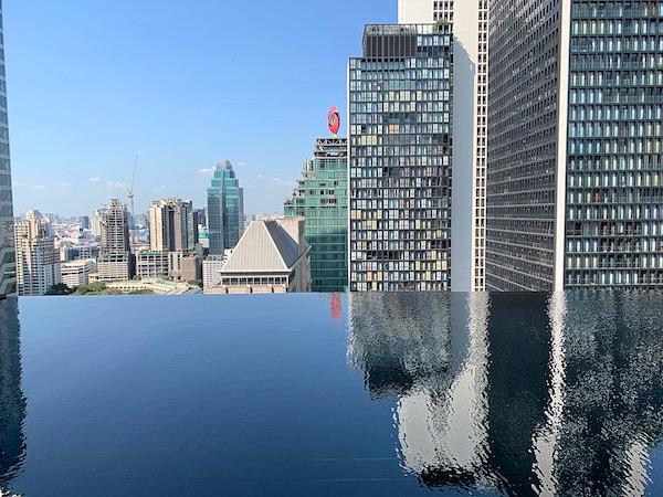 ジ オークラ プレステージ バンコク(The Okura Prestige Bangkok)のプールから見える景色1