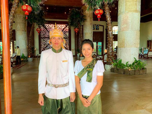 ソカ シェムリアップ リゾート アンド コンベンション センター (Sokha Siem Reap Resort and Convention Center)のカンボジア人スタッフ