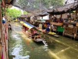 クローンラットマヨム水上マーケットを流れる運河