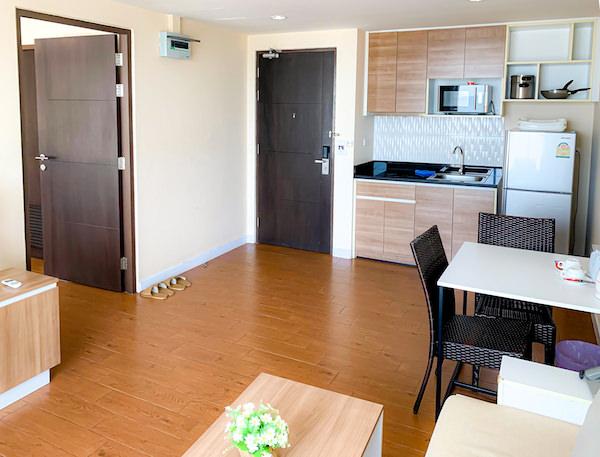 BBG シーザイド ラグジュリアス サービス アパートメント(BBG Seaside Luxurious Service Apartment)の客室リビングルーム2