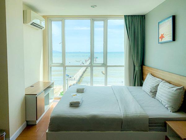 BBG シーザイド ラグジュリアス サービス アパートメント(BBG Seaside Luxurious Service Apartment)のベッドルーム