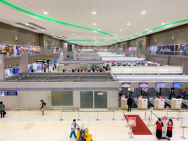 ドンムアン空港の国内線出発ロビー