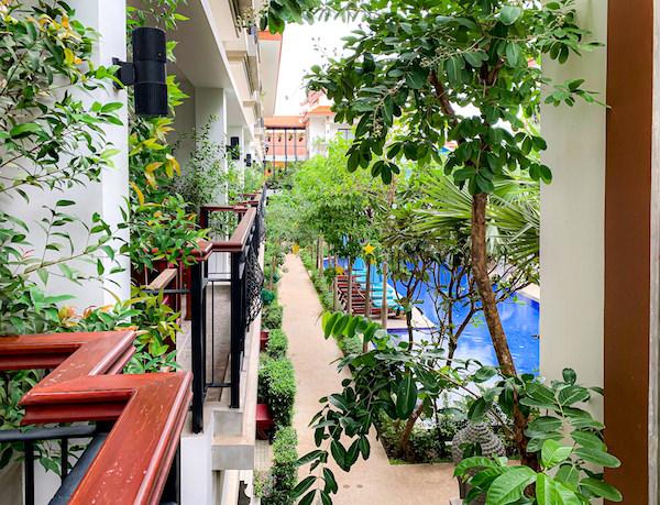 クメール マンション レジデンス(Khmer Mansion Residence)のバルコニーから見える景色