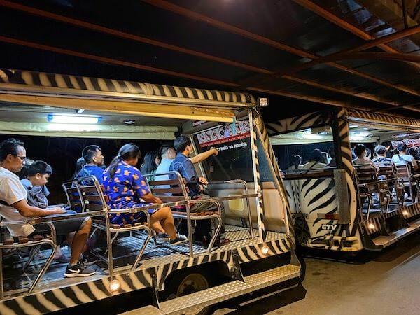 チェンマイナイトサファリ(ChiangMai Night Safari)のトラム