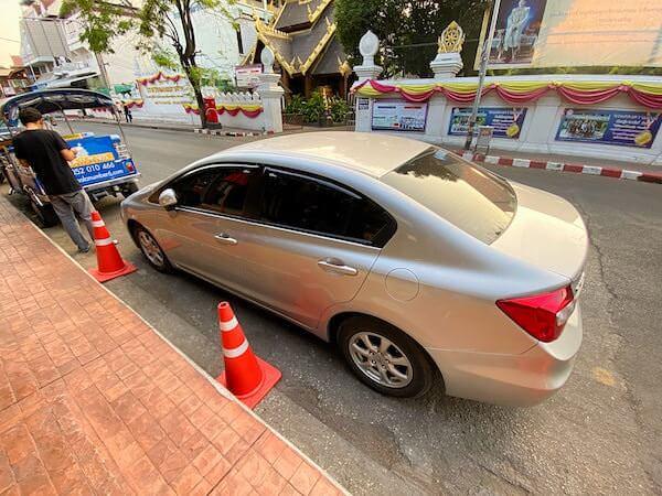 チェンマイナイトサファリ(ChiangMai Night Safari)のツアー送迎車