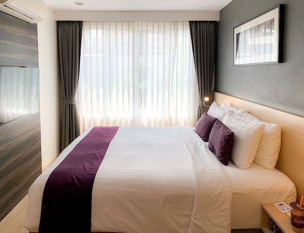 アライズホテルスクンビット(Arize Hotel Sukhumvit)の客室ベッドルーム1