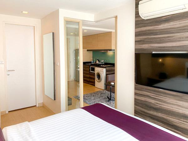 アライズホテルスクンビット(Arize Hotel Sukhumvit)の客室ベッドルーム2