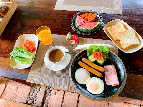 バーン ティエ ワン ホテル(Baan Tye Wang Hotel)の朝食