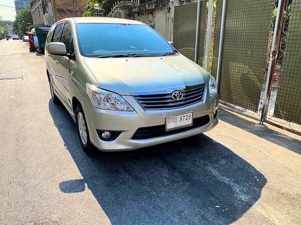 配車したグラブ(Grab)タクシー