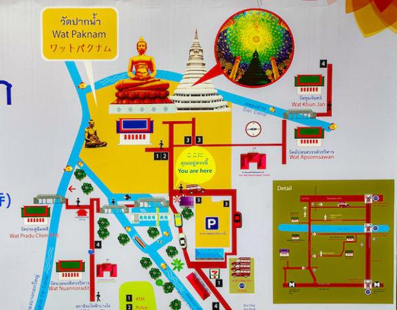 ワットパクナム境内の地図