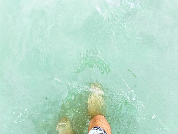 ナンラムビーチの海水