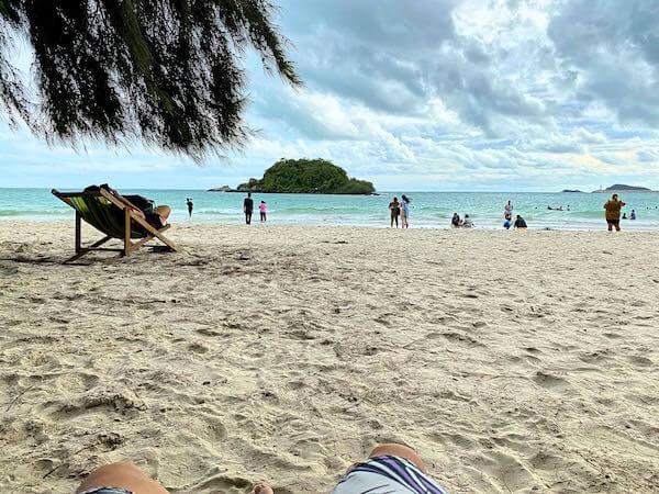 ナンラムビーチの砂浜
