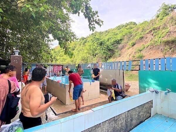 ナンラムビーチのシャワールーム2