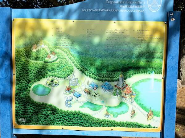 ワット・ヤーナサンワララームの地図