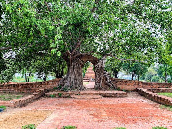 ワット・プラガーム(Wat Phra Ngam)のアーチ状の門