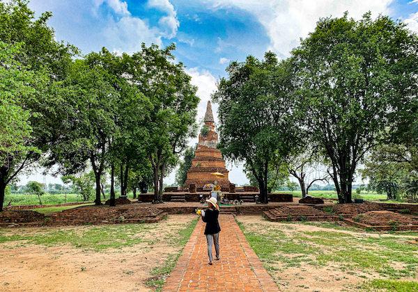 ワット・プラガーム(Wat Phra Ngam)の仏塔
