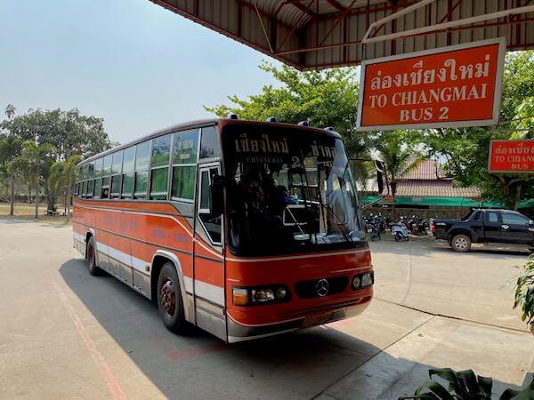 チェンマイ行きのバス