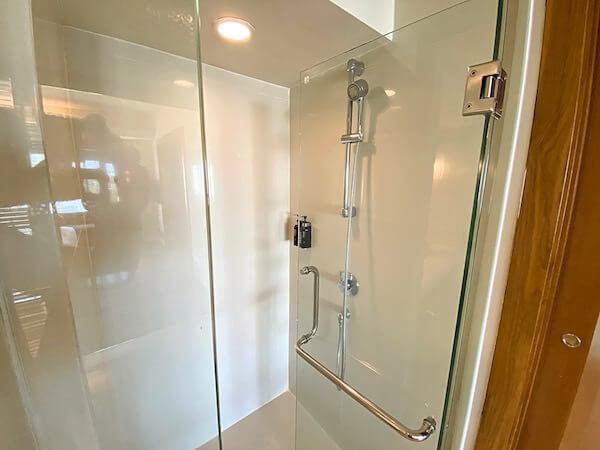 デュシット D2 ホテル(Dusit D2 Chiang Mai Hotel)バスルームのシャワーブース