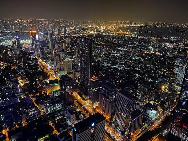マハナコンタワーから見える夜景
