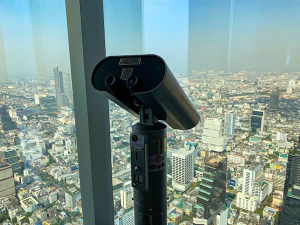 マハナコンタワーの74階にあるコイン式双眼鏡