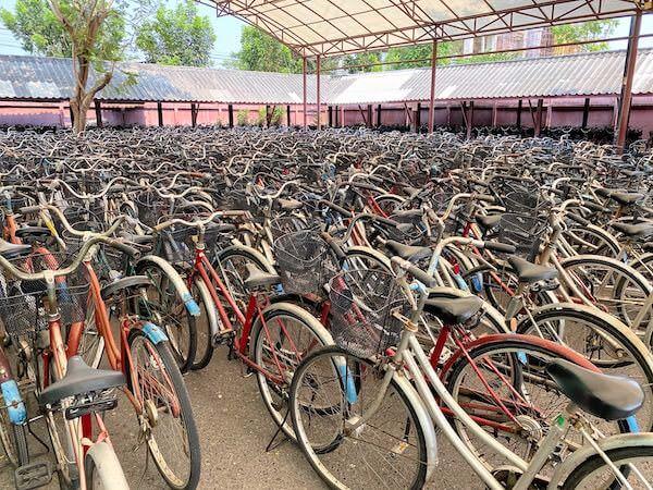 ムアンボーランのレンタル自転車