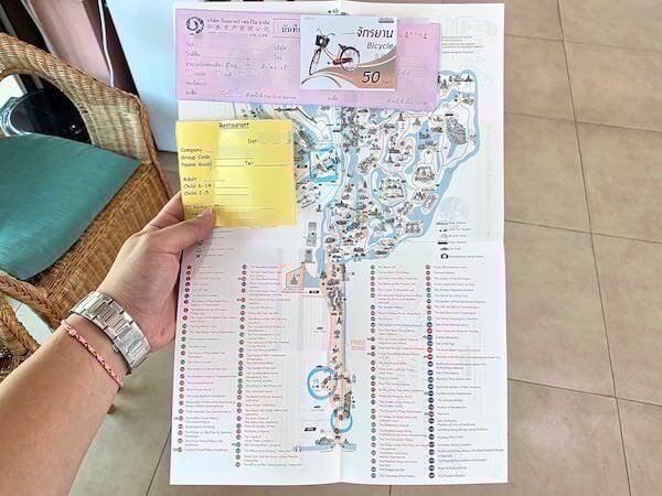 ムアンボーランの地図