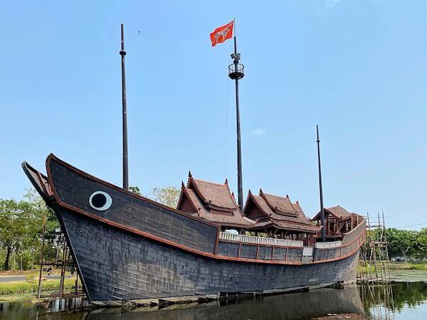 ムアンボーランのThai junk Boat