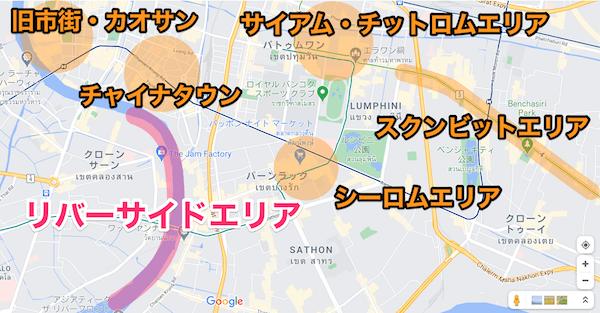 バンコクリバーサイドの地図