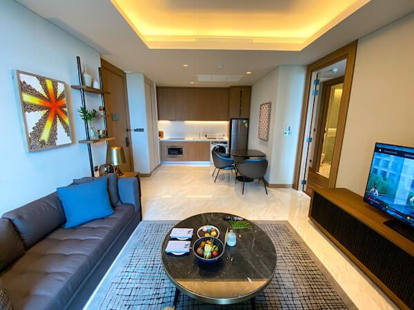 キンプトン マーライ バンコク(Kimpton Maa-Lai Bangkok)の1ベッドルーム レジデンス(One Bed Room Residence)客室2