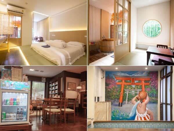 柏屋旅館の客室・ロビー・大浴場