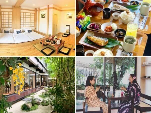 利休庵(Rikyuan Chiangmai)の客室・庭園・和食