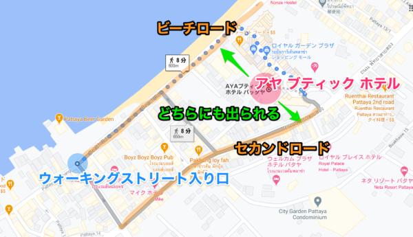アヤブティックホテル パタヤ(Aya Boutique Hotel Pattaya)の地図