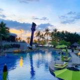 ハードロックホテル パタヤ(Hard Rock Hotel Pattaya)のプールから見える夕日