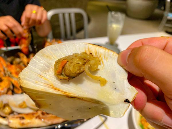 ハードロックホテル パタヤ(Hard Rock Hotel Pattaya)のレストランで食べた貝