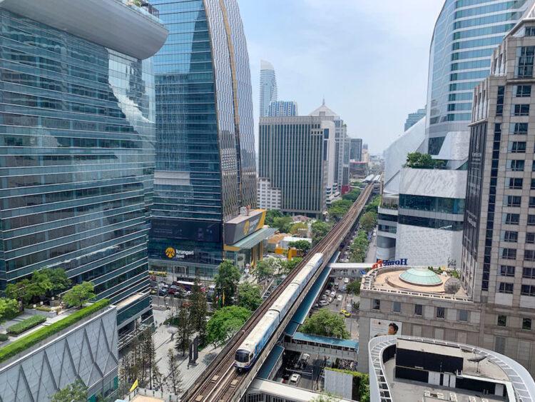 ローズウッド バンコク(Rosewood Bangkok)の客室から見える景色