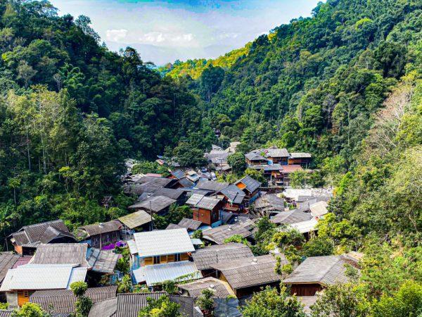 メーカンポン村のChomnok Chommaiから見える景色