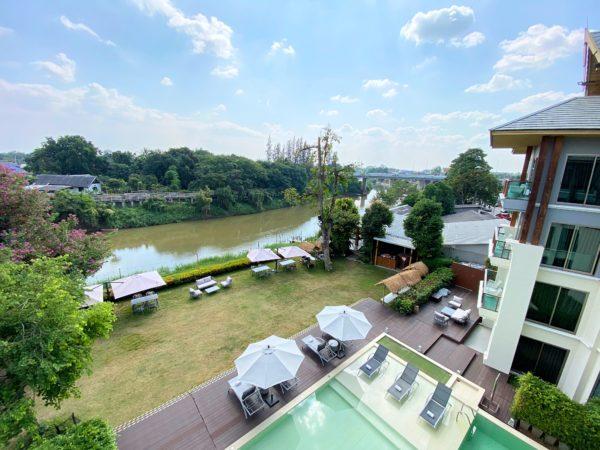 ザ チェンマイ リバーサイド(The Chiang Mai Riverside)から見えるピン川