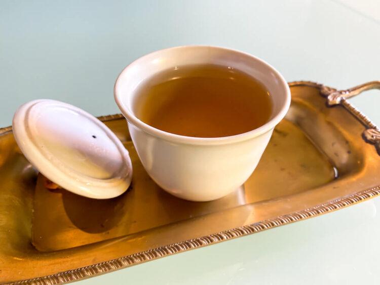 スパ後のマトゥーム茶