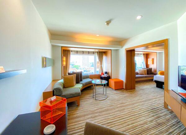 デュシット D2 ホテル(Dusit D2 Chiang Mai Hotel)のスタジオスイート キングベッド3