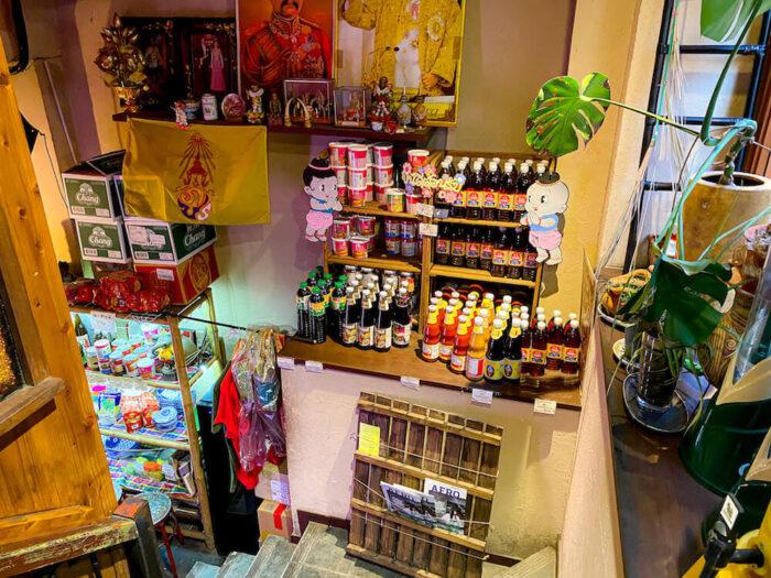 ガムランディーの店内で売られている調味料
