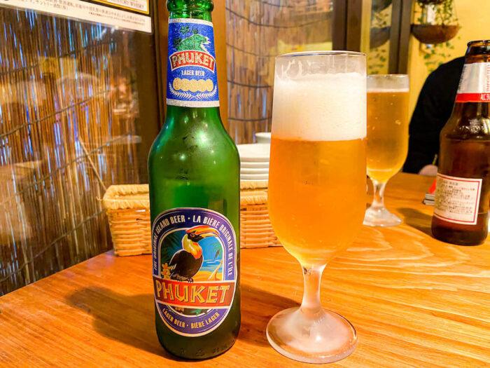 カオサンで飲んだビール「プーケット」