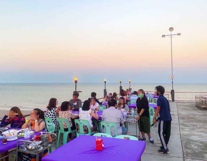 ハイシア ホアヒン ホテル(Hisea Huahin Hotel)周辺の海沿いレストラン