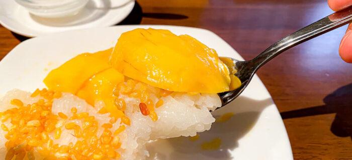 プラウチャイで食べたカオニャオマムアン2
