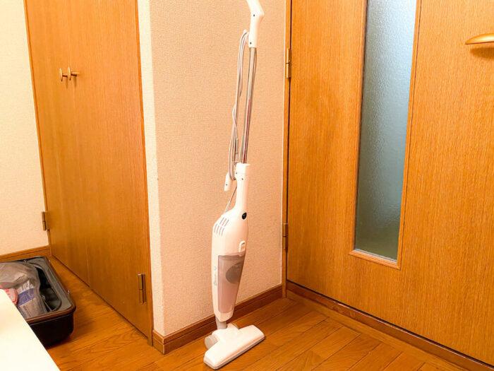 1ルームマンションタイプ個室寮に完備している掃除機