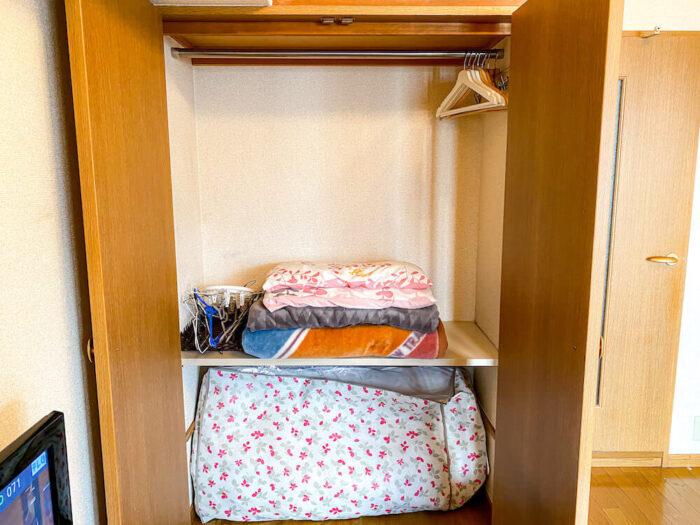 1ルームマンションタイプ個室寮のクローゼット