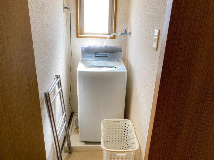 1ルームマンションタイプ個室寮の洗濯機