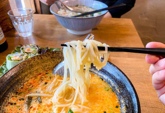 タイ屋台料理 アンド ヌードル オシャで食べたトムヤムヌードル2